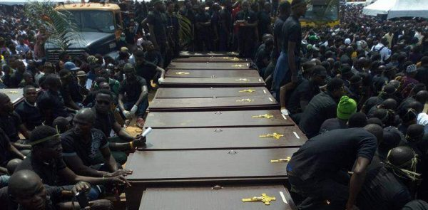 Amidst Cheers and Boo, Benue Buries 73 Victims of Herdsmen Killings