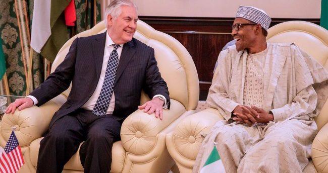 Buhari, Tillerson meet in Aso Rock