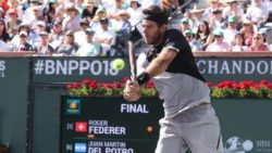 Del Potro beats Federer in Indian Wells thriller