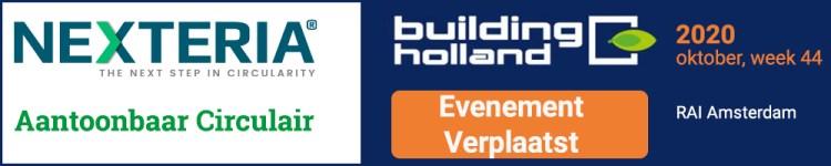 Building Holland is verplaatst naar oktober 2020, week 44. Klik voor meer informatie.