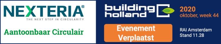 Building Holland is verplaatst naar week 44, oktober 2020. Klik de banner voor meer informatie.