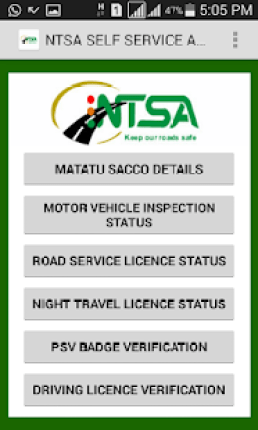 Download NTSA APP - on Google Play