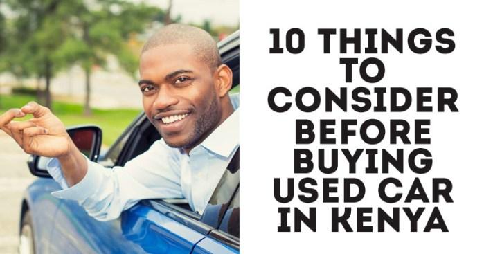 Buying Used Car In Kenya