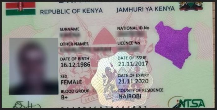 NTSA New generation smart Driving License kenya