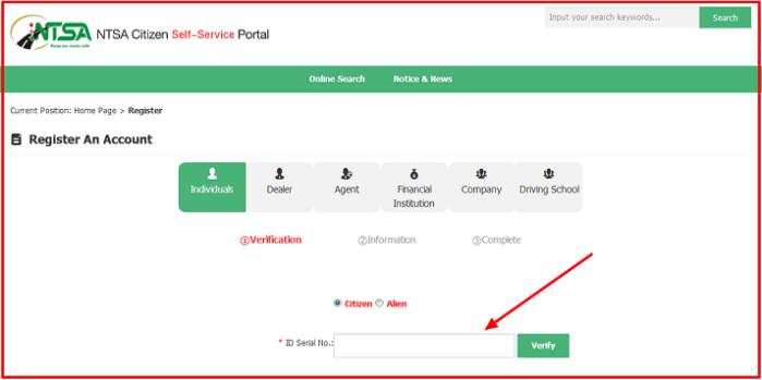 how to register on ntsa tims platform kenya