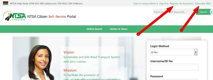 NTSA e Citizen Self-service Portal
