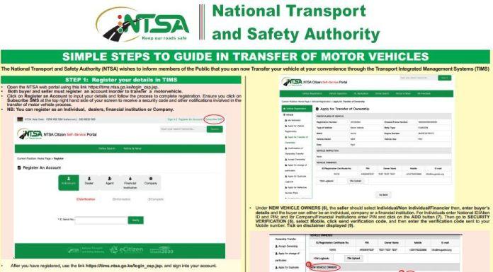 ntsa-motor-vehicle-logbook-transfer-charges-fee