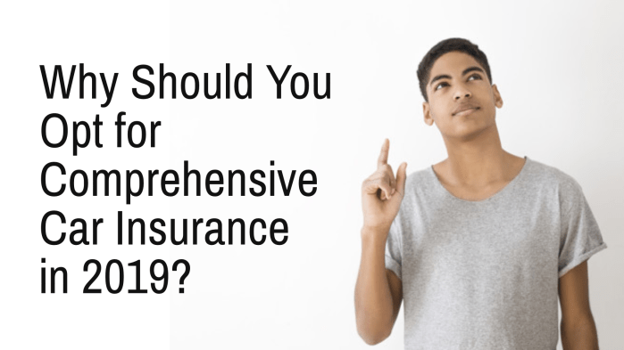 Why Should You Opt for Comprehensive Car Insurance in 2019
