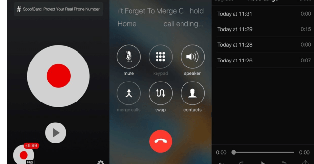 iPhone call recording.