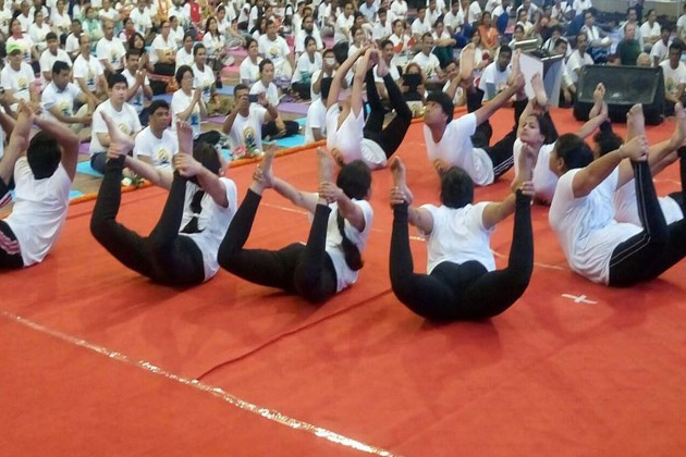 Performance of Yoga Asanas by students in Bangladesh