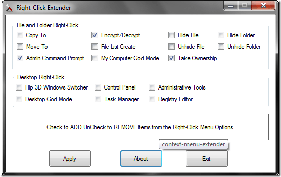 Add Custom Right Click Command with Right-Click Extender For