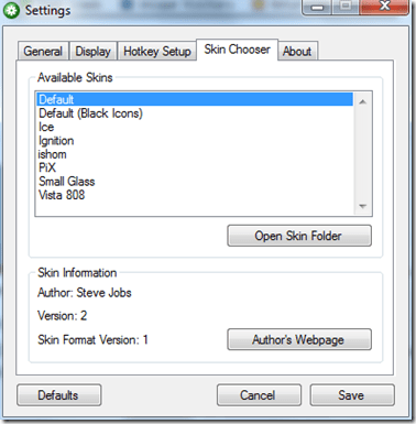 choose a different skin - How To Add Mac Style Volume Control On-Screen Indicator in Windows 7