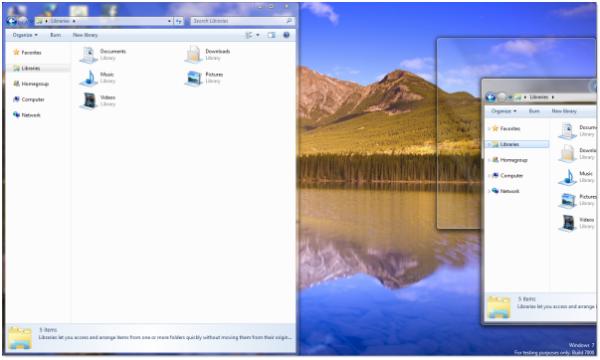 050809 0502 windows7aer12 - Windows 7 Aero Shake & Snap with Keyboard Shortcut