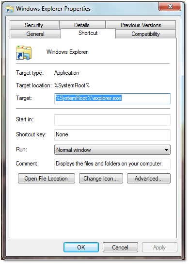 052509 0617 howtochange21 - How to change the default location in Windows Explorer to My Computer in Windows 7