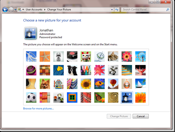 changeyourpicturewindows7 thumb - How to change user Account display picture in Windows 7