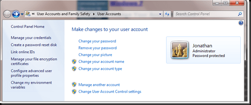 useraccountscontrolpanel thumb - How to change user Account display picture in Windows 7