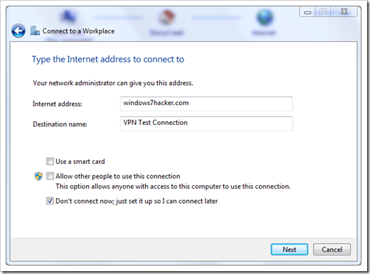 How To] Set Up A VPN Connection in Windows 7 - NEXTOFWINDOWS.COM