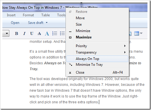 image4 - How To Make A Window Stay Always On Top in Windows 7