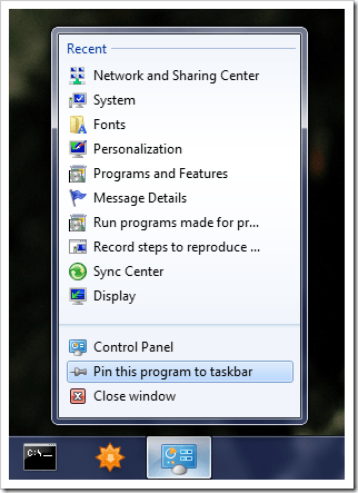 image46 - How To Pin Control Panel to Taskbar in Windows 7 [Tip]