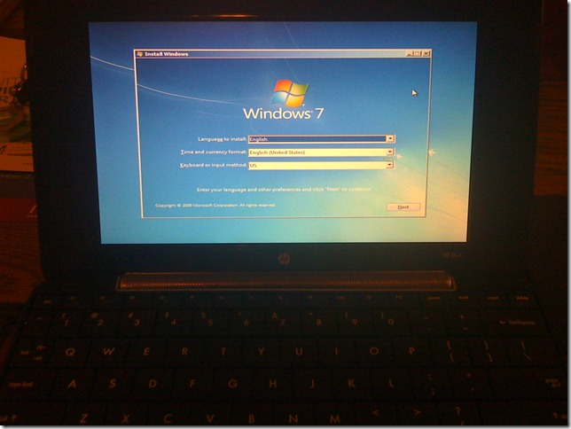 IMG 0410 thumb - Complete Guide on How to Install Windows 7 on Any Netbook