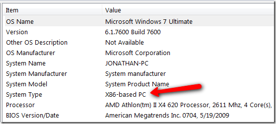 X86 means 32 bit thumb - How to tell if your Windows 7 is running 64 bit or 32 bit