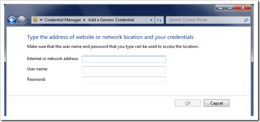 Using Credential Manager to Manage Passwords in Windows 7