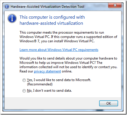 image63 - Microsoft Hardware-Assisted Virtualization Detection Tool Checks If Your PC is Windows XP Mode Ready