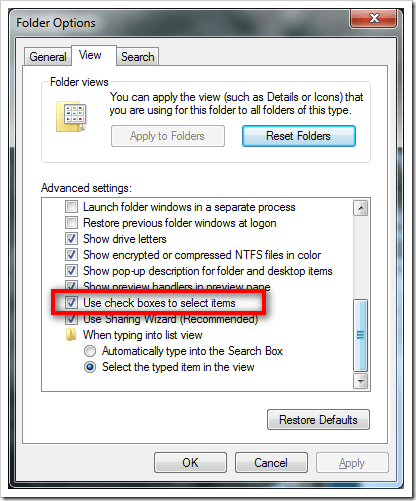 image43 - How To Enable Check Boxes for Selecting Multiple Items in Windows 7