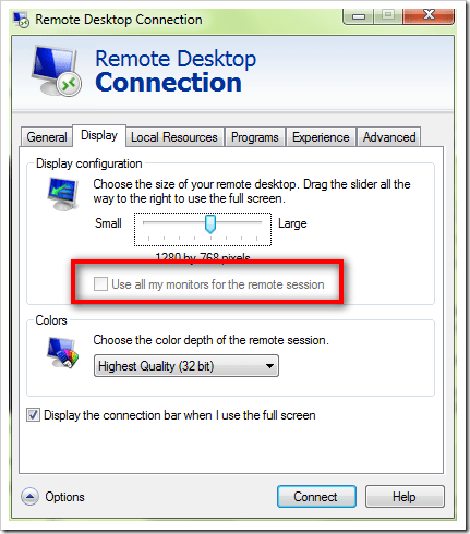 How To] Use Dual Monitors in Remote Desktop Session on