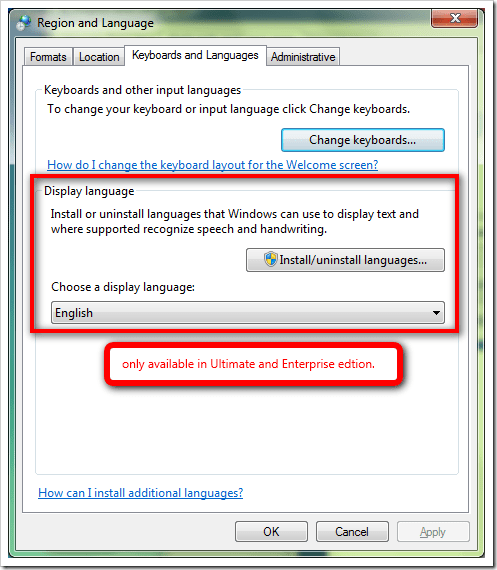 How To Change The Default Language For Windows 7 Logon
