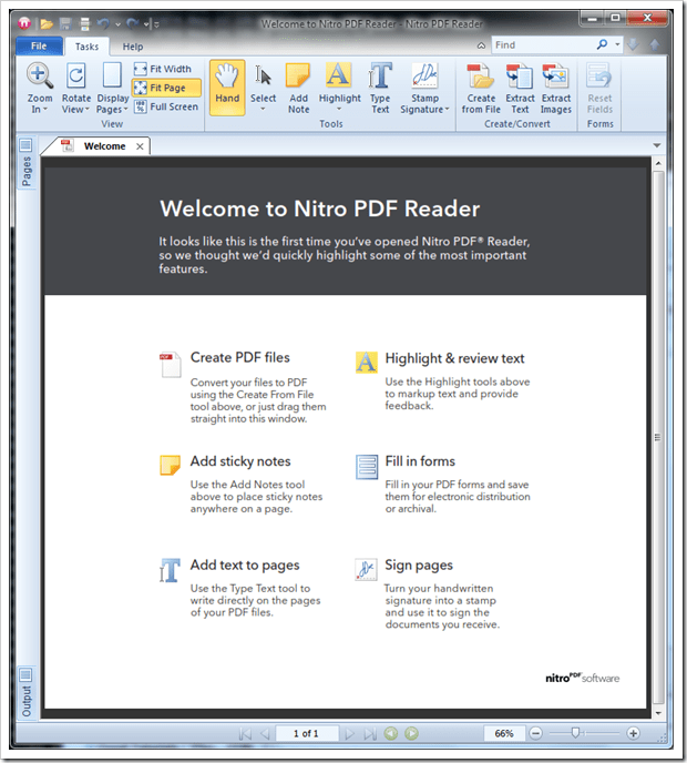 Download Nitro PDF Reader On Windows 7, Premium Feature Free