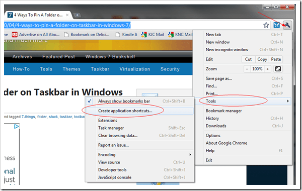 image thumb1 - How To Pin Your Favorite Website To Windows 7 Taskbar