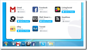 Pokki thumb1 - Pokki The Missing Windows 7 Desktop WebApp With Sleek UI