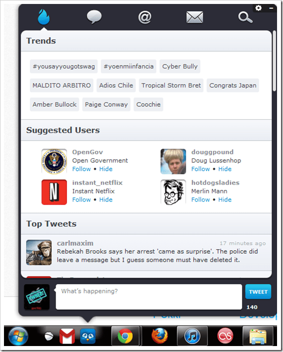 twitter dock for windows 7 thumb - Pokki The Missing Windows 7 Desktop WebApp With Sleek UI