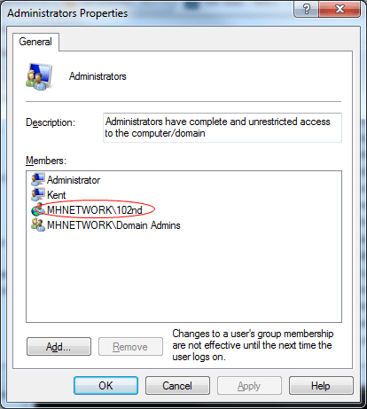 Windows 7 Tip: How To Add Members to Local Group from