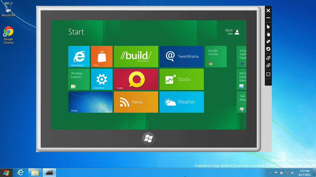 Using just a Mouse to Experience the Touch in Windows 8 with Windows