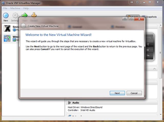 Install Windows 8 Developer Preview on VirtualBox - Next of
