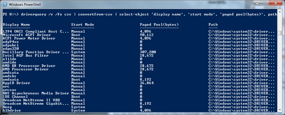 how to open powershell in windows 7