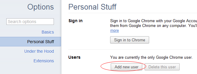 Creating Multiple User Profiles in Google Chrome - Next of