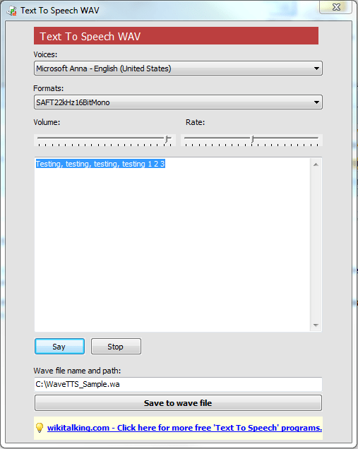 Text to Speech To Turn Any Text Into A Wav File - Next of Windows