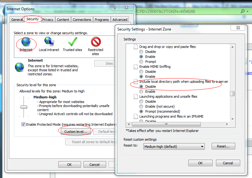 How To Get Rid of C:FakePath in IE When Uploading A File to