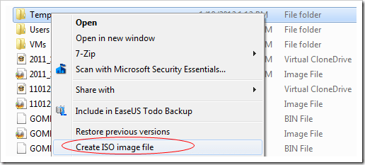 image thumb101 - Create An ISO Image for Any Disc or Folder Right From Windows Explorer Context Menu