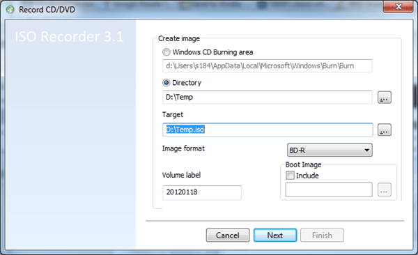 image thumb102 - Create An ISO Image for Any Disc or Folder Right From Windows Explorer Context Menu