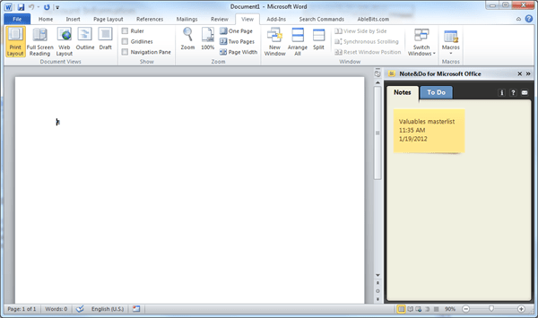image thumb108 - Note&Do Puts Note Taker and To-do Planner right in Microsoft Office
