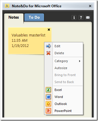 image thumb109 - Note&Do Puts Note Taker and To-do Planner right in Microsoft Office