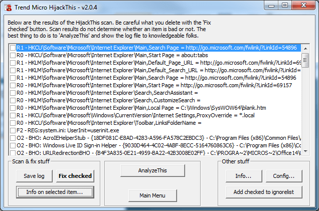 HijackThis Goes Open Source - Next of Windows