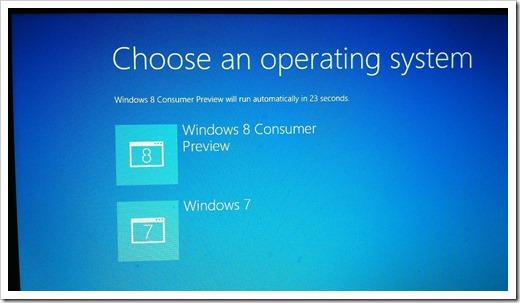 Windows 8 Dual boot screen