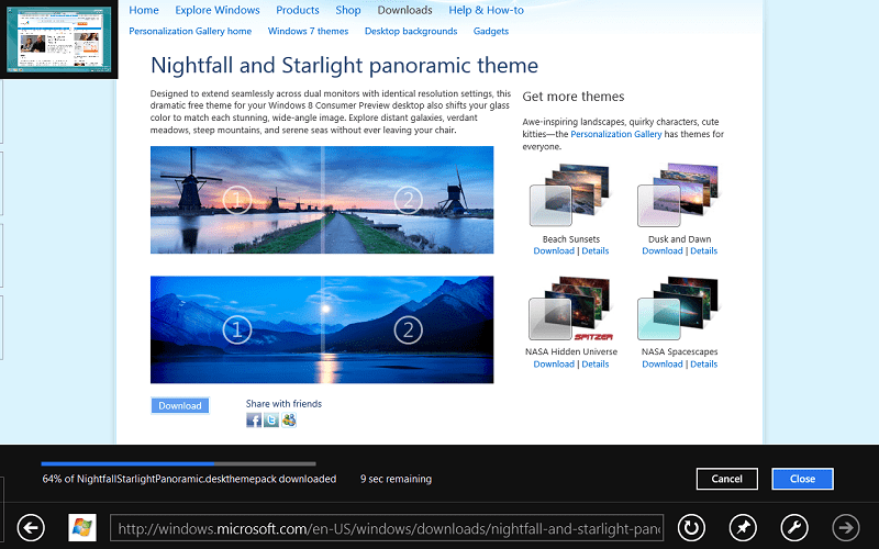 The First Official Windows 8 Theme from Microsoft Available