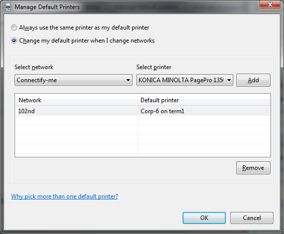 Manage Default Printer #2
