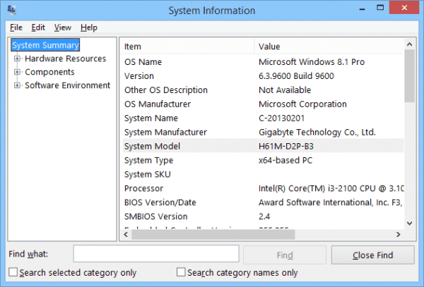 System Information 2014 10 10 16 22 51 600x407 - 4 Ways to Find out What's The Motherboard Model for Your Windows 7 & 10 Computer